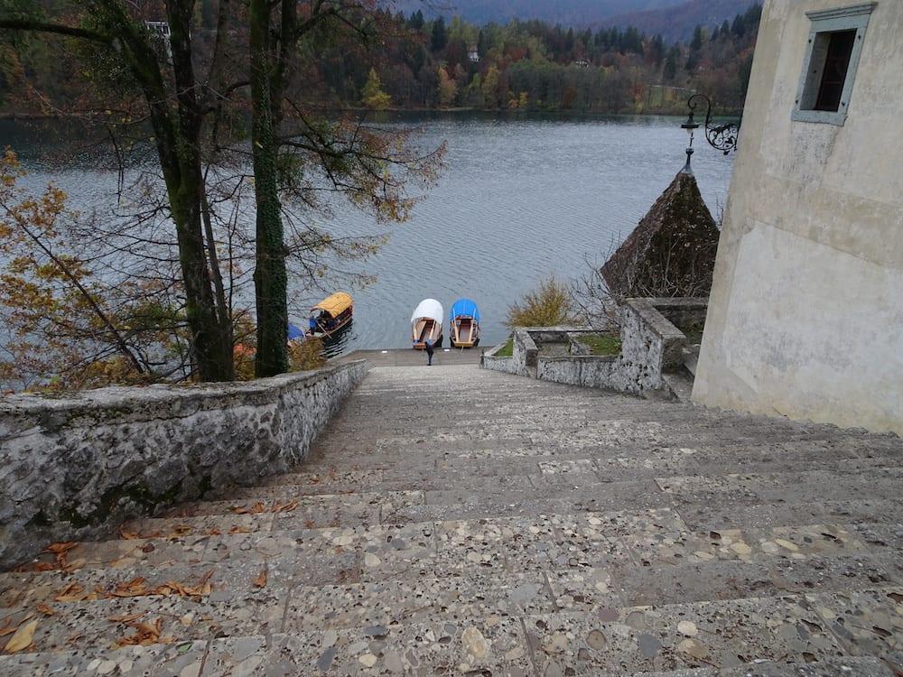 99 stone steps Lake Bled