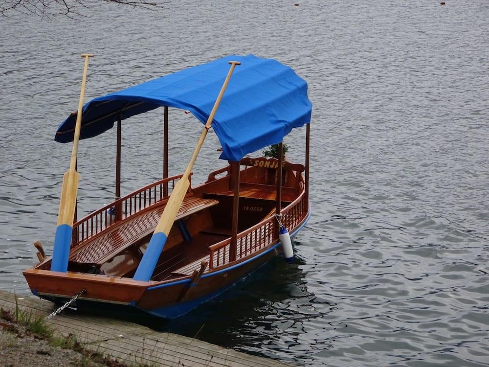 wooden pletna boat