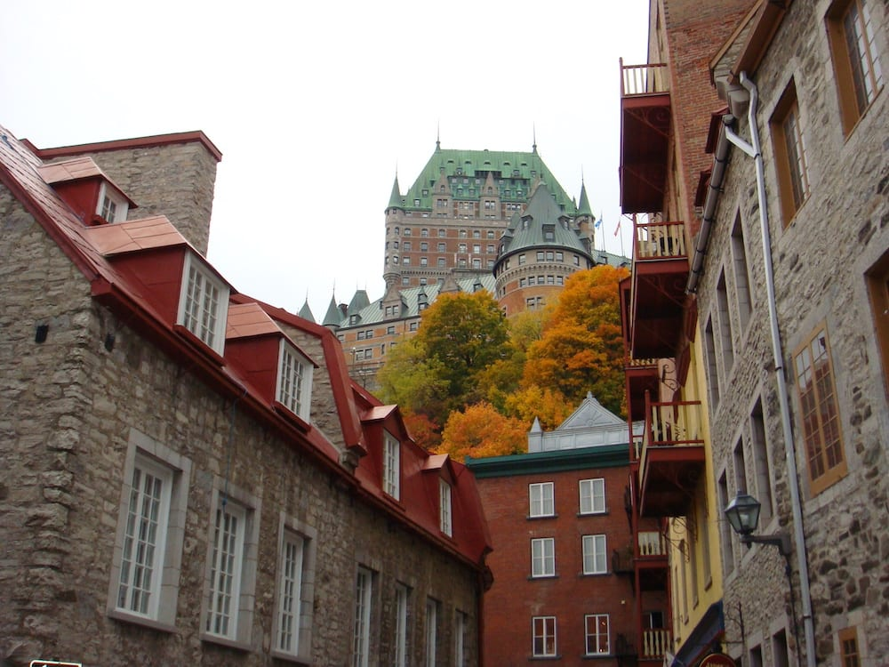 View of Chateau Frontenac Quebec City