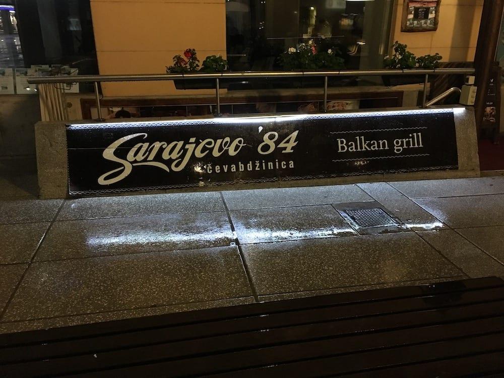 Sarajevo restaurant slovenia